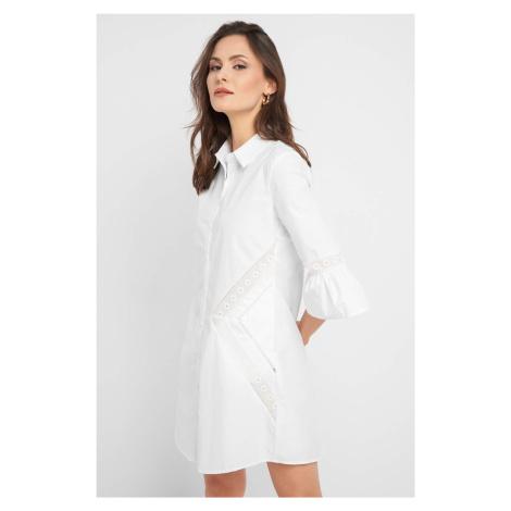 Košeľové šaty s výšivkou Orsay
