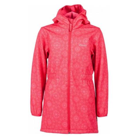 Lewro ORNELLA ružová - Dievčenský softshellový kabát