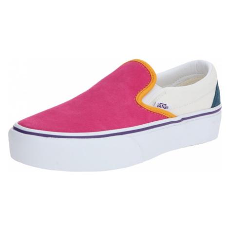 VANS Slip-on obuv 'Classic Slip-On Platform'  ružová / biela