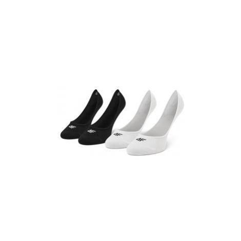 4F Súprava 2 párov krátkych ponožiek dámskych H4L21 SOD005 Čierna