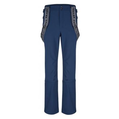 Loap LEMAR modrá - Pánske zimné softshellové nohavice