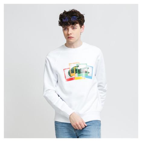 LACOSTE Lacoste LIVE x Polaroid Loose Fit Sweatshirt biela