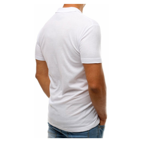 Men's white polo shirt PX0176 DStreet