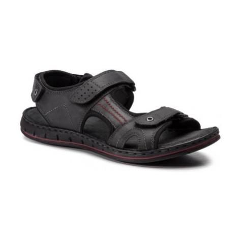 Sandále GO SOFT MI18-ESSAAR-01 nubuk,Materiał tekstylny