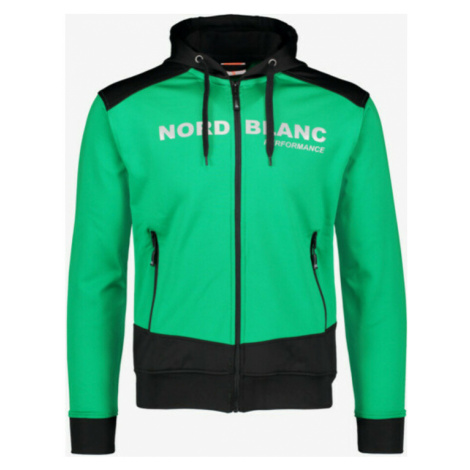 Pánska športové mikina Nordblanc s kapucňou NBSMS5615_ZLN