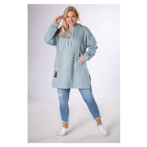 long-cut kangaroo sweatshirt