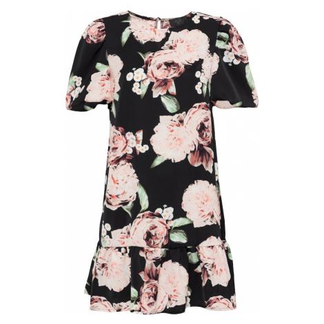 AX Paris Šaty  čierna / ružová / zelená / biela / oranžová