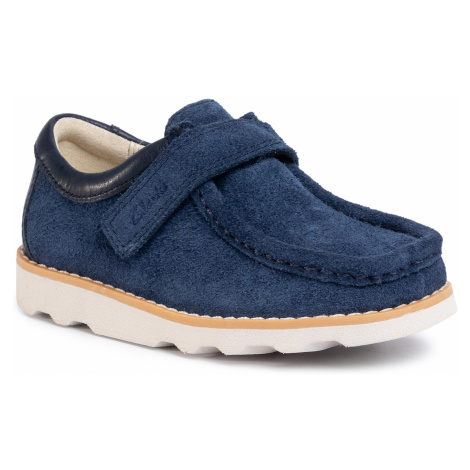 Poltopánky CLARKS - Crown Wall T 261501337  Navy