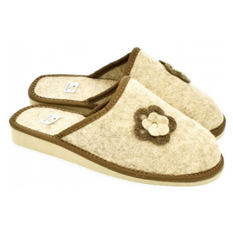 Dámske béžové papuče FLORA John-C
