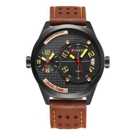 Pánske hodinky Curren Dual - hnedé