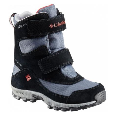 Columbia YOUTH PARKERS PEAK VELCRO BOOT šedá - Detská outdoorová obuv