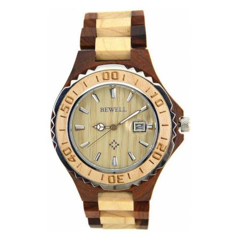 Drevené hodinky Bast hnedé