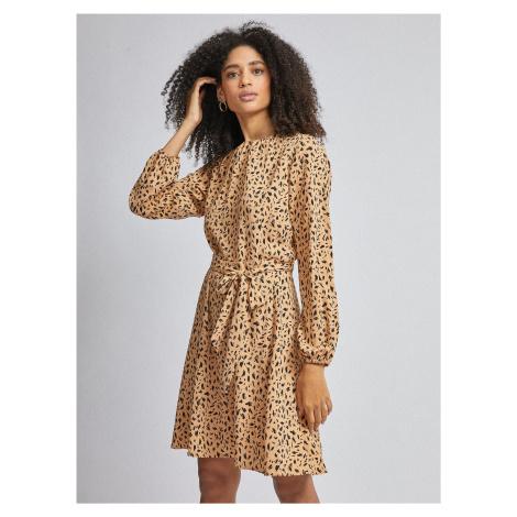 Svetlohnedé vzorované šaty Dorothy Perkins