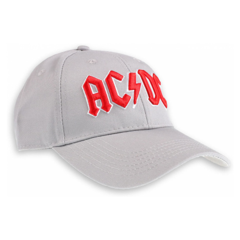 šiltovka ROCK OFF AC-DC Red Logo Grey