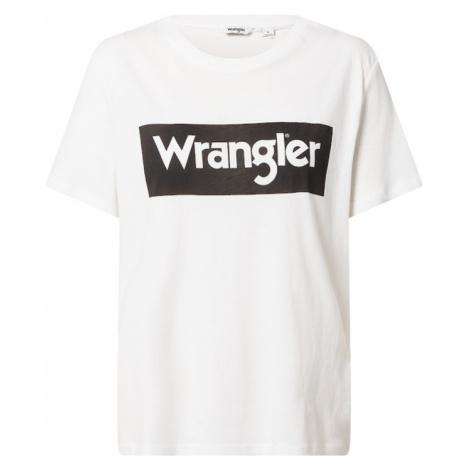 WRANGLER Tričko  šedobiela / čierna