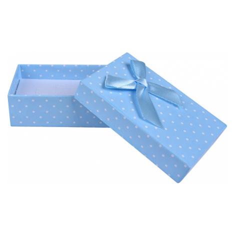 JK Box Svetlo modrá bodkovaná krabička na súpravu šperkov KK-6 / A13 JKbox
