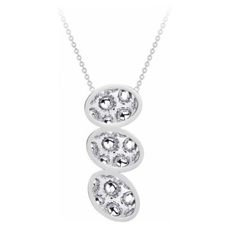 Preciosa Oceľový náhrdelník s trblietavým príveskom Idared 00