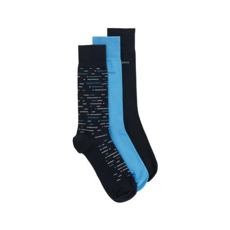 Boss Súprava 3 párov vysokých ponožiek pánskych 3P Rs Gift Set Cc 50431162 Farebná Hugo Boss