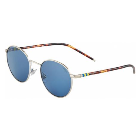 POLO RALPH LAUREN Slnečné okuliare '0PH3133'  strieborná / hnedá / modrá