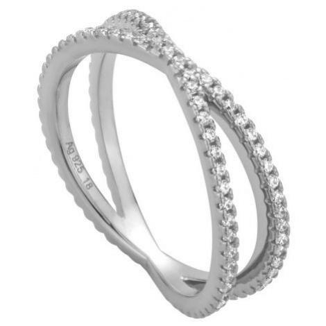Esprit Strieborný prsteň so zirkónmi ESRG010611 1,8 cm