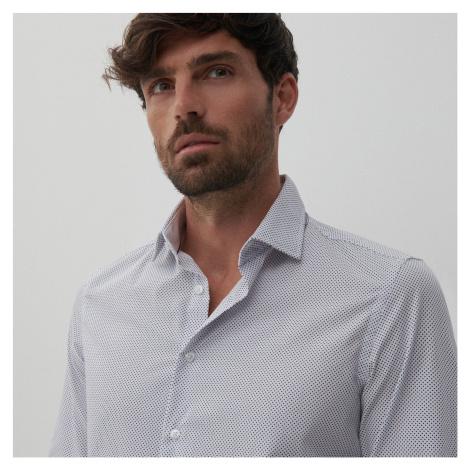 Reserved - Košeľa slim fit s mikrovzorom - Biela