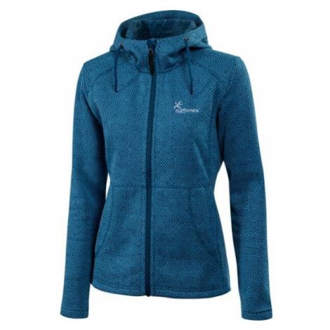 Klimatex LENDA modrá - Dámsky outdoorový sveter s kapucňou