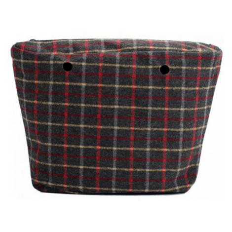 Obag vnútorná taška tartan sivá O bag
