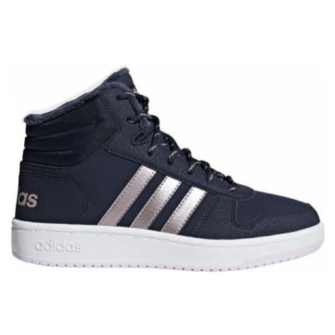 adidas HOOPS MID 2.0 K modrá - Detská voľnočasová obuv