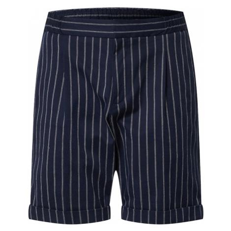 SCOTCH & SODA Plisované nohavice  tmavomodrá / biela