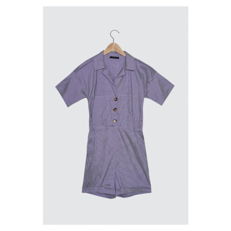 Trendyol Purple Button Detailed PocketEd Jumpsuit