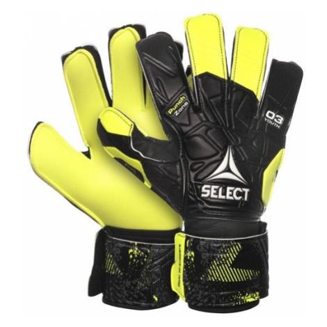 Brankárske rukavice Select GK gloves 03 Youth Flat cut čierno žltá