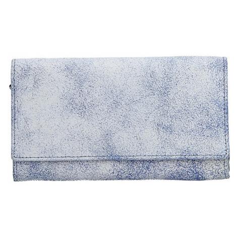 Dámska kožená peňaženka DD Anekta Tarela - modro-biela
