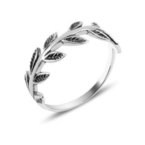 OLIVIE Strieborný prsteň LÍSTKY Z RUŽÍ 3916
