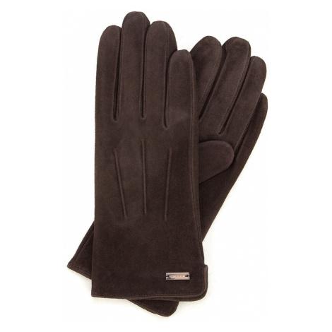Tmavé dámske rukavice s prešívaním Wittchen