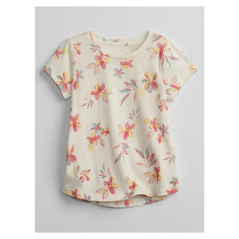 GAP béžové dievčenské tričko Print Graphic