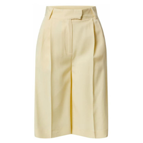 Another Label Plisované nohavice 'Dryade'  svetložltá