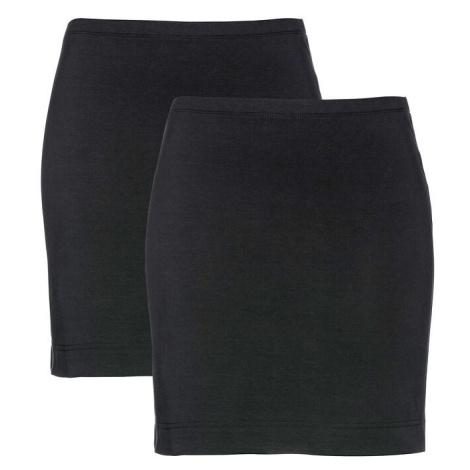 Strečová džersejová sukňa (2ks v balení) bonprix