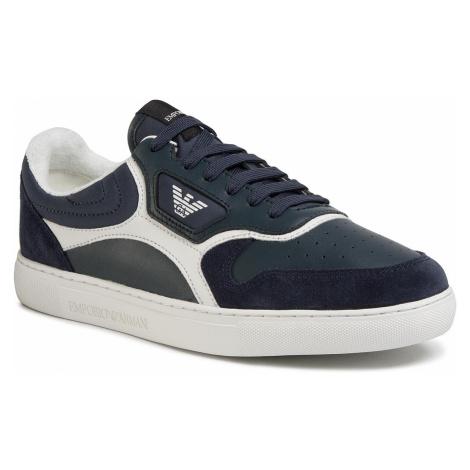 Sneakersy EMPORIO ARMANI - X4X290 XM222 N982 Blue/Midnight/White