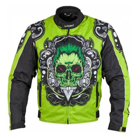 Moto bunda W-TEC Daemon Farba zelená s potlačou