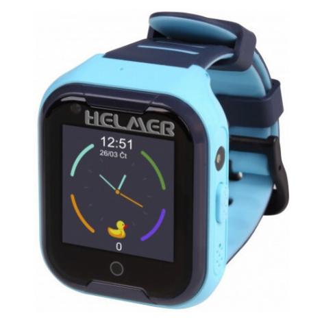 Helmer LK 4G modré - dětské hodinky s GPS lokátorem, videohovorem, vodotěsné