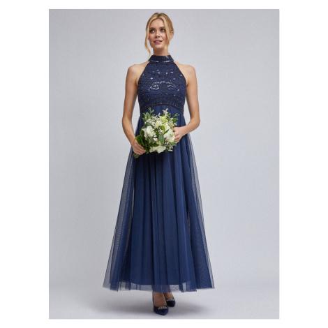 Dark blue tulle maxid dress by Dorothy Perkins