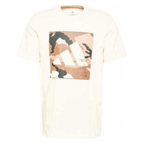 ADIDAS PERFORMANCE Funkčné tričko  hnedá / krémová
