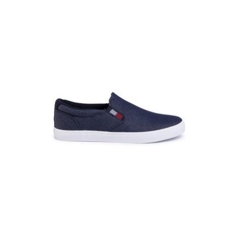 Tommy Hilfiger Tenisky Essential Slip On Sneaker Denim FM0FM02686 Tmavomodrá