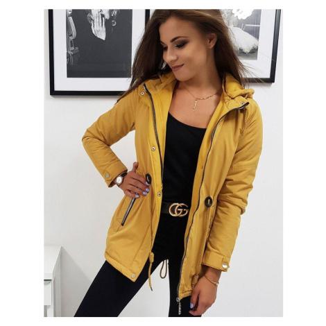 Zaujímavá dámska bunda kamelová vty0832