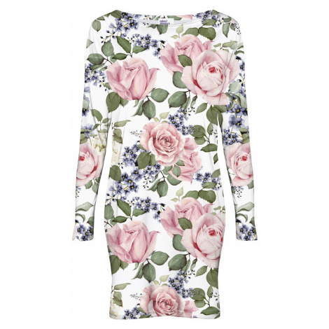 Biele kvetované šaty CP-022 Colour Pleasure