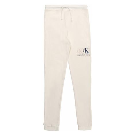 Calvin Klein Jeans Nohavice  krémová / čierna / béžová