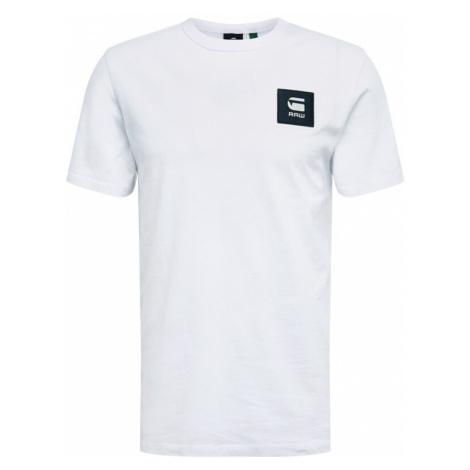 G-Star RAW Tričko  biela / čierna