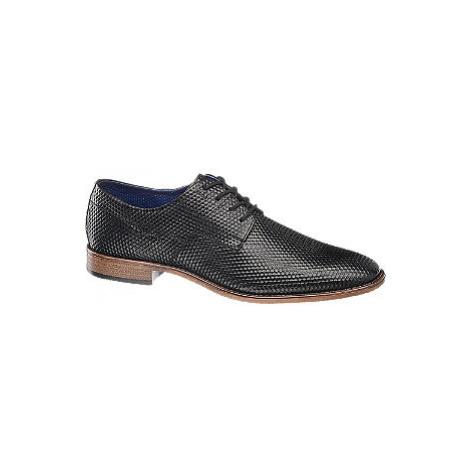 Čierna spoločenská obuv Bugatti