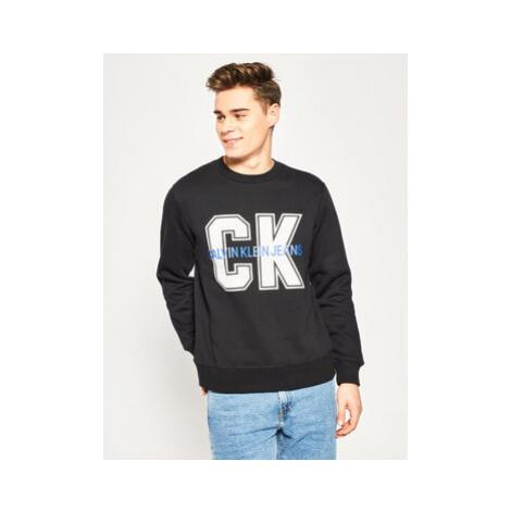 Calvin Klein Jeans Mikina J30J313217 Čierna Regular Fit