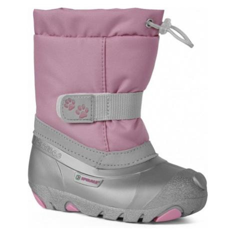 Spirale CERRO ružová - Detská zimná obuv